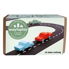 Waytoplay Flexibele Autobaan Snelweg 24 Delig
