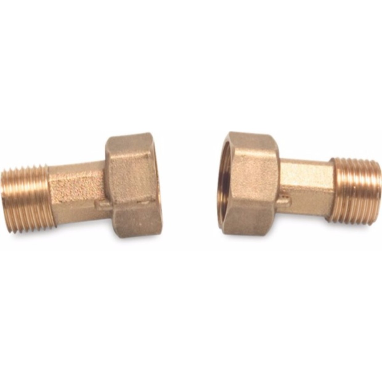 Zeer 2/3 koppeling messing 3/4 inch x 1/2 inch wartel binnendraad x GY33