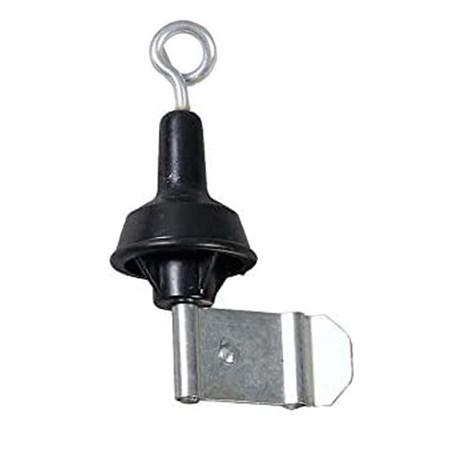 Klemisolator Veerstalen Paal - Metalen krul
