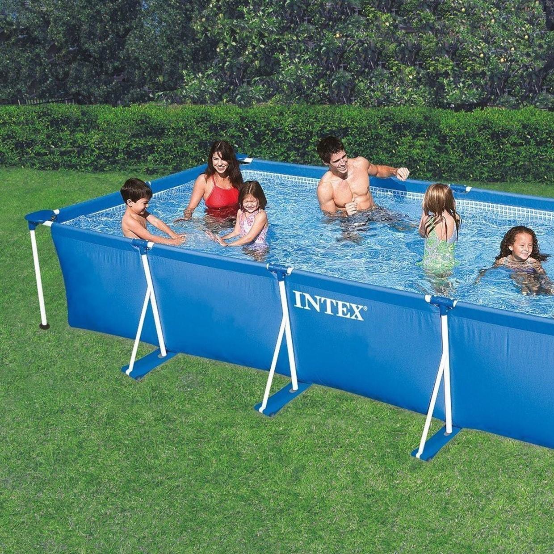 Intex zwembad rectangular frame 300 x 200 x 75 cm de boer for Zwembad intex
