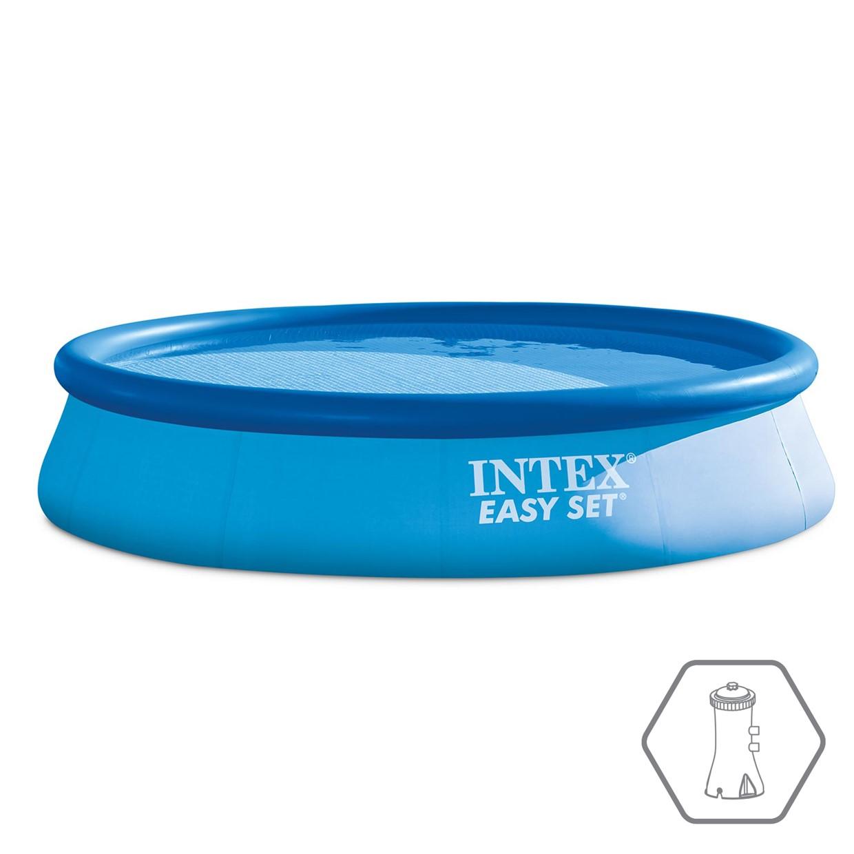 3043619faa53d9 Intex Opblaasbaar Zwembad Easy Set - Ø 396 x 84 cm - De Boer Drachten