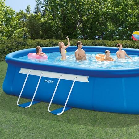 intex zwembad metal frame ovaal 610 x 366 x 122 cm de boer drachten. Black Bedroom Furniture Sets. Home Design Ideas