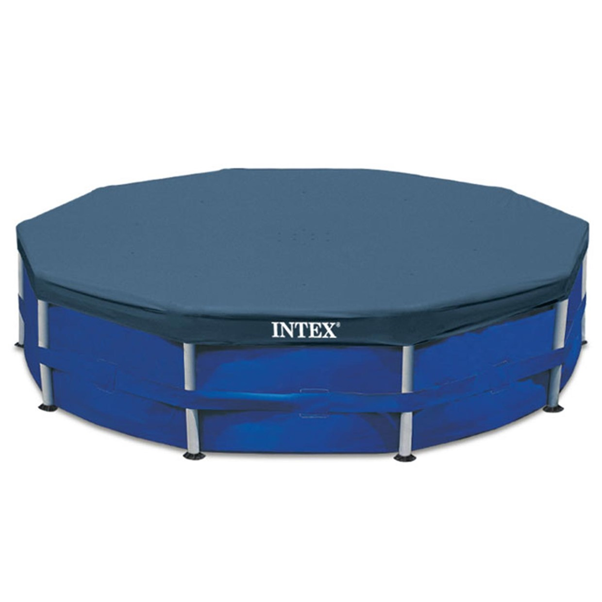 Intex afdekzeil rond frame 457 cm de boer for Intex mini frame pool afdekzeil