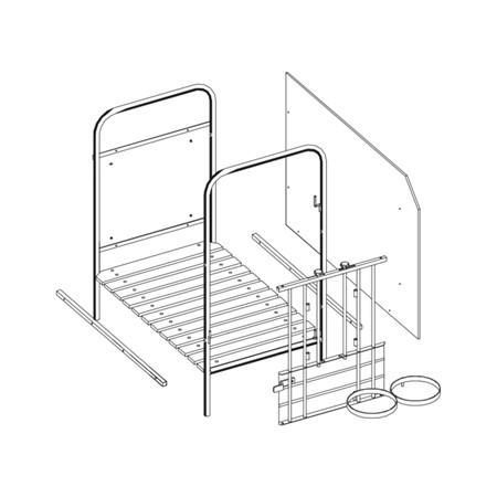 Spinder Aanbouwbox 92 Cm - Inclusief Emmer en Voederschaal