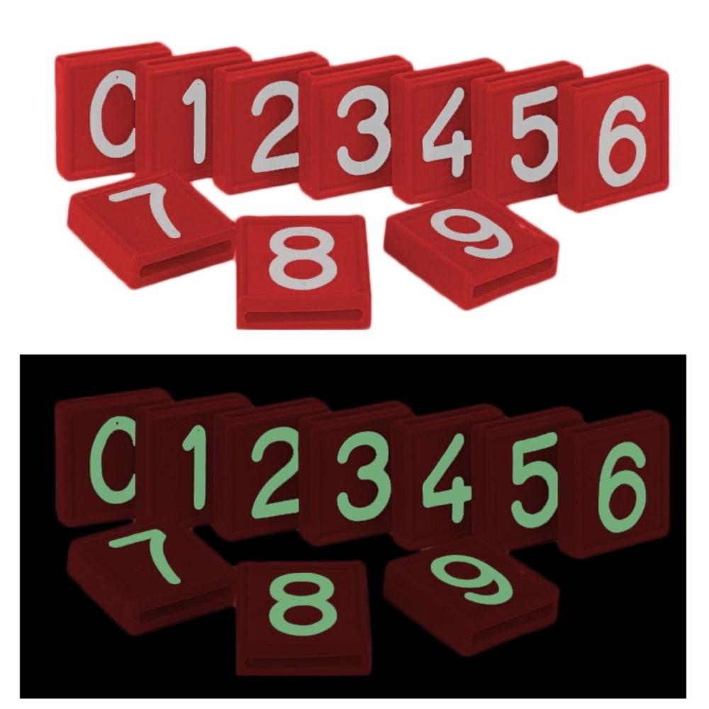 Afbeelding van CRS 1 Kokernummer Rood Glow In The Dark Nummer 0 Box A 10 Stuks