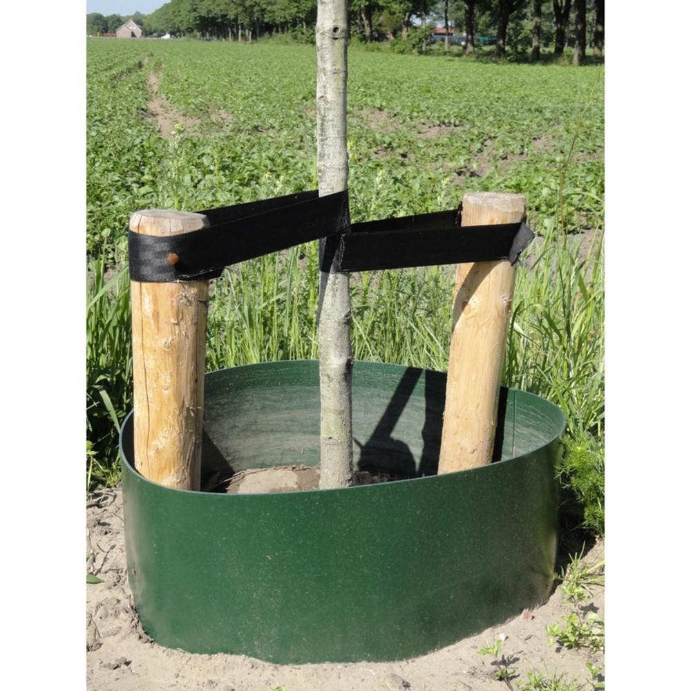Afbeelding van Gietrand groen 3 mm LDPE 30 cm 25 meter