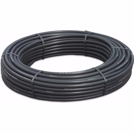 Drukbuis PE100 25 mm x 2,3 mm glad SDR11 16bar zwart/blauw 50m KIWA