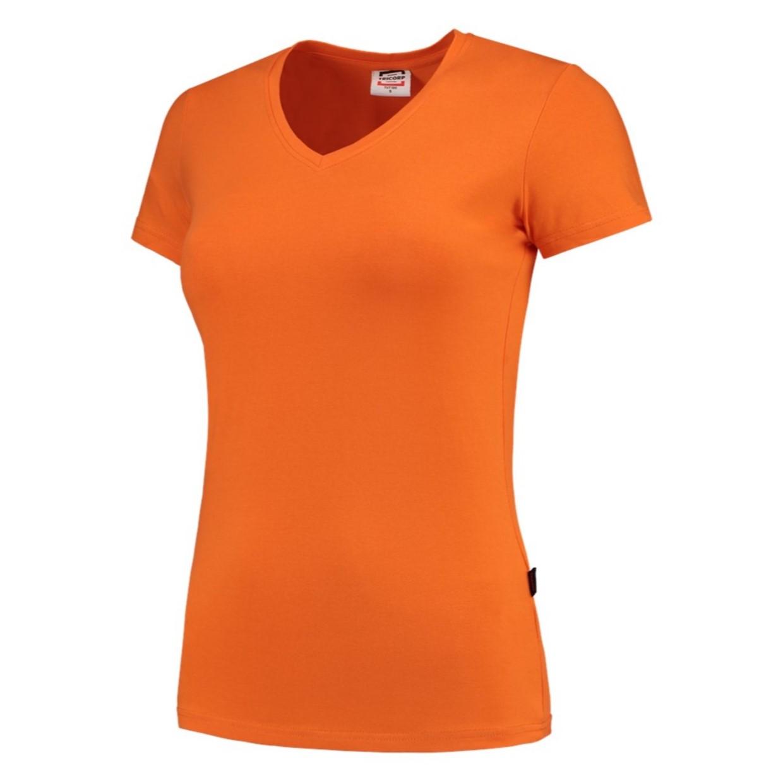 101008 Casual Xs Dames Shirt Hals Oranje T Fit Tricorp Maat 190gr Slim V w7IqaSqxtn