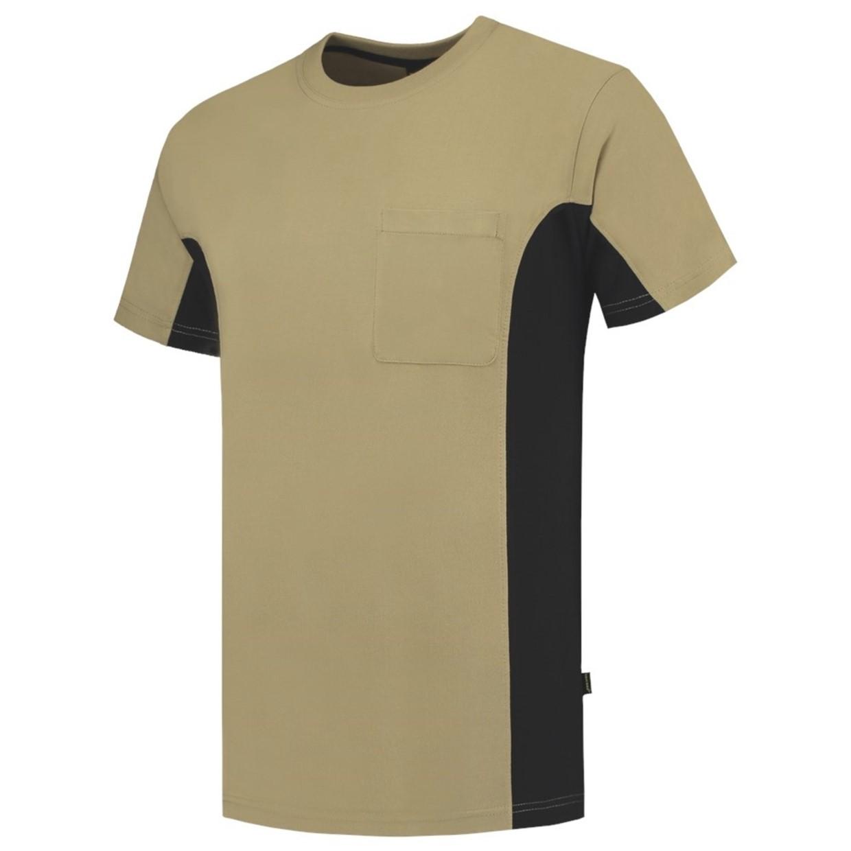 360de97fd78cd6 Tricorp T-Shirt Workwear 102002 190gr Khaki/Zwart Maat S - De Boer ...