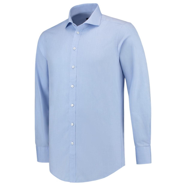Heren Overhemd Blauw.Tricorp Heren Overhemd Slim Fit Blauw 42 5 De Boer Drachten