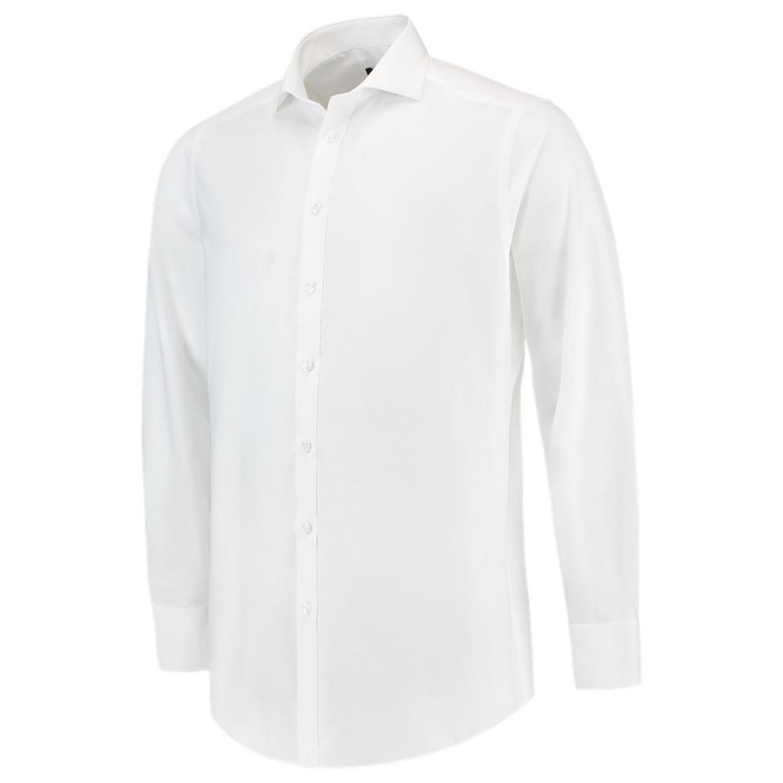 Wit Heren Overhemd.Tricorp Heren Overhemd Slim Fit Wit 39 5 De Boer Drachten