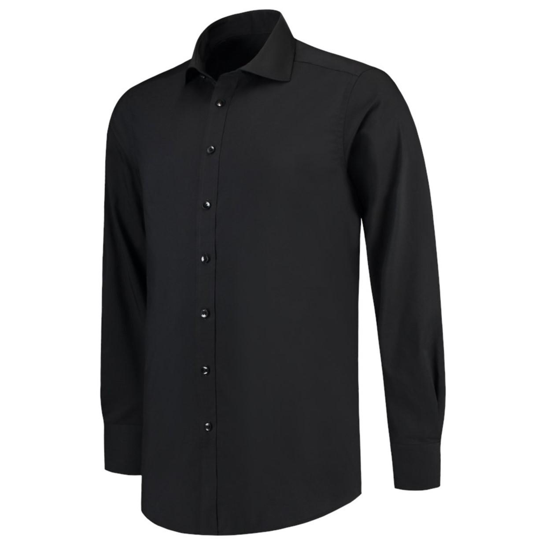 Slim Fit Heren Overhemd.Tricorp Heren Overhemd Stretch Slim Fit Zwart 38 7 De Boer Drachten