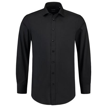 Overhemd Zwart Slim Fit.Tricorp Heren Overhemd Stretch Slim Fit Zwart 38 7 De Boer Drachten
