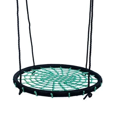 Déko-Play Vogelnestschommel Diameter 100 cm Incl. Touw, Groen