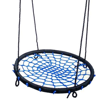 Déko-Play Vogelnestschommel Diameter 100 cm Incl. Touw, Blauw