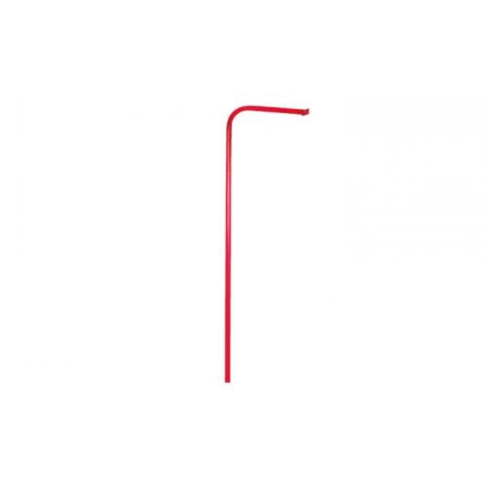 Afbeelding van Brandweerpaal gecoat staal lengte 250 cm kleur rood