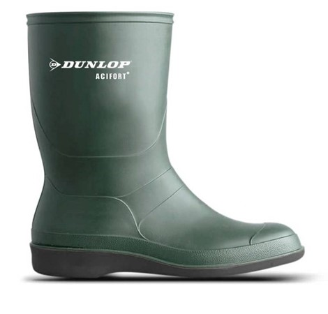 Dunlop Werklaars Biosecure Profielloos Groen Maat 45