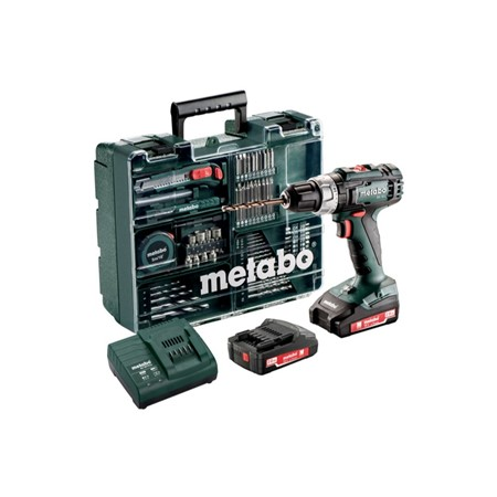 Metabo BS 18 L 18V Li-Ion accu schroef-/boormachine set (2x 2,0Ah accu) in koffer incl. 73 delige accessoires set - 602321870