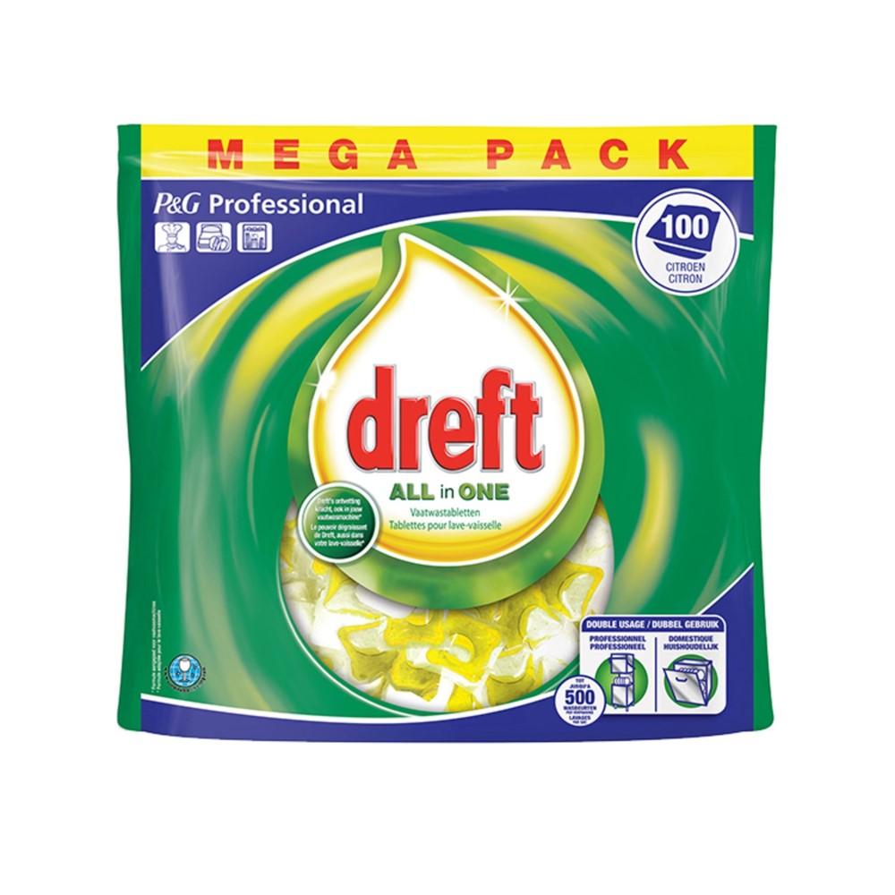 Afbeelding van Dreft All In One Lemon Vaatwastabletten 100 Stuks