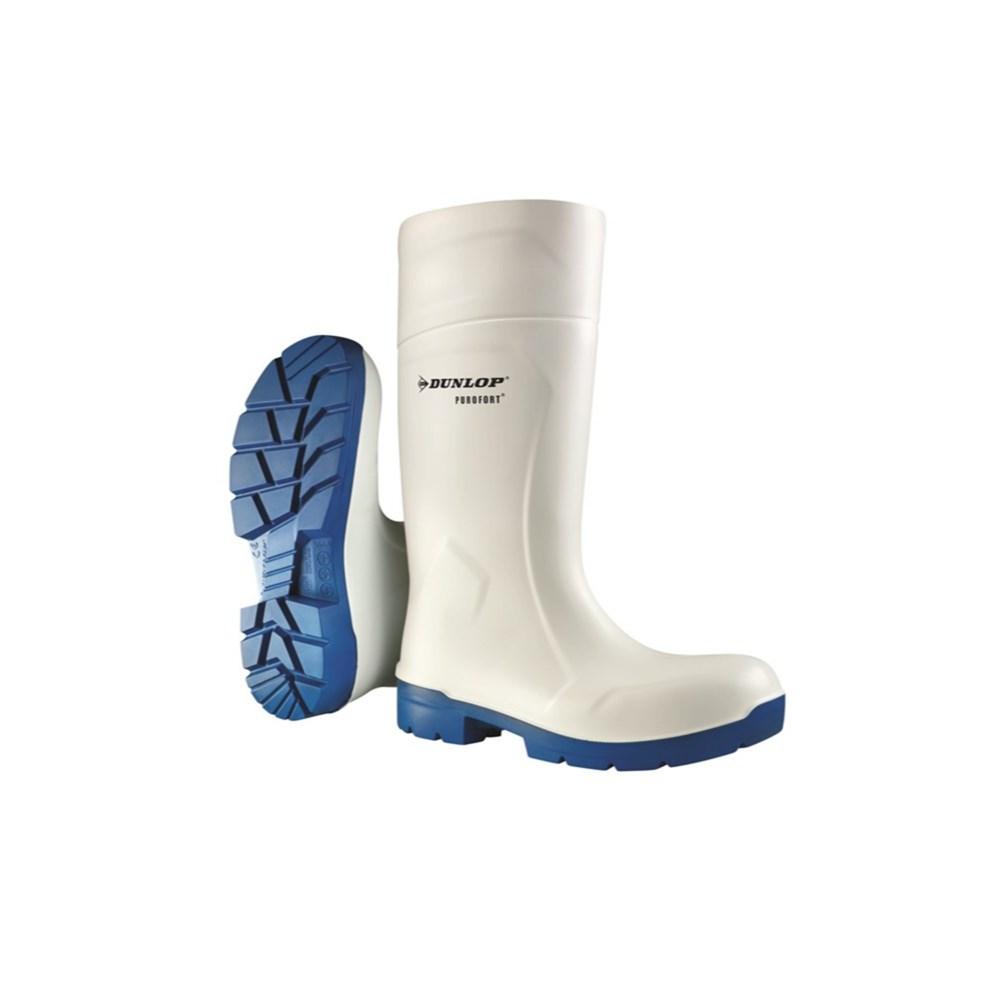 Afbeelding van Dunlop Foodpro Purofort Multigrip Safety Veilgheidslaars S4 Wit/Blauw 43 Veiligheidslaarzen