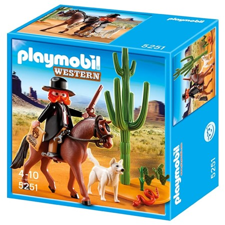 PLAYMOBIL Western 5251 Sheriff te Paard