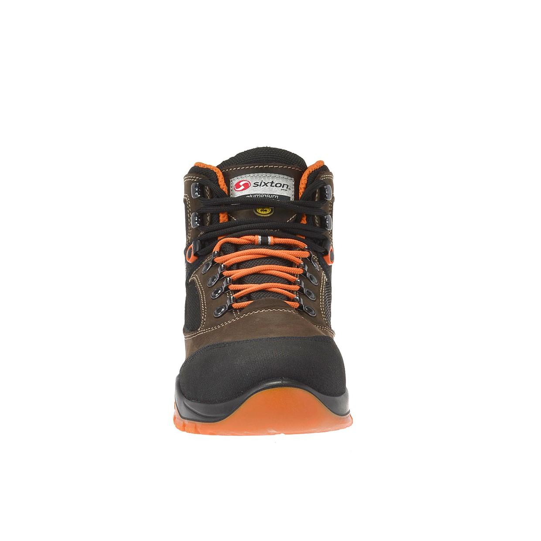 Werkschoenen Heren.Sixton Peak Werkschoenen Sound S3 Bruin Zwart Oranje Maat 48 De
