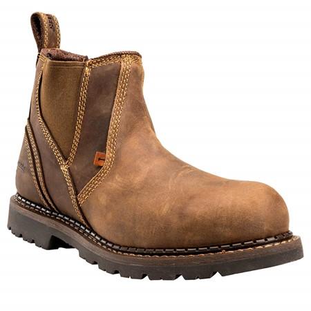 Buckler Werkschoenen B1555SM SB Instapper Bruin Maat 40