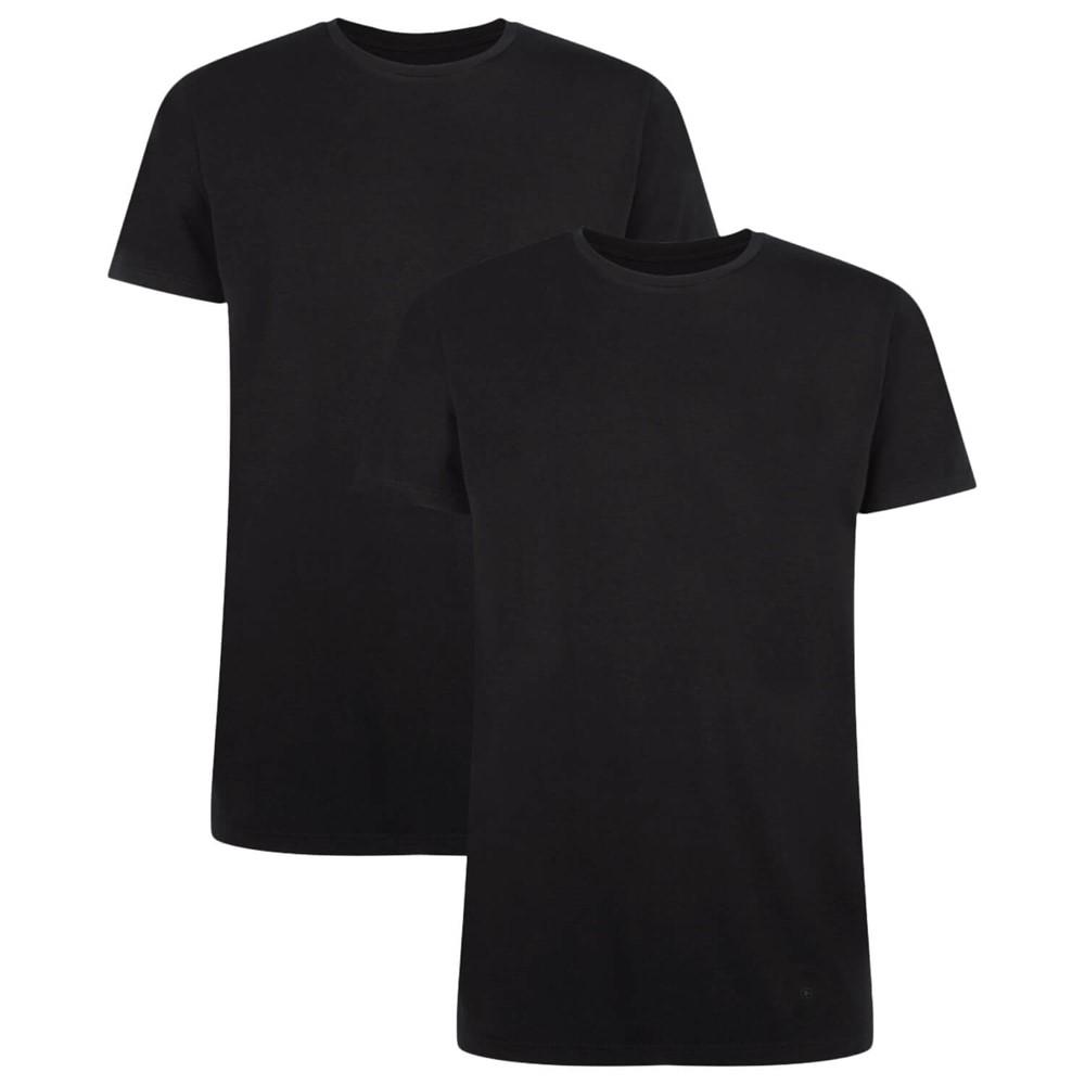 Afbeelding van Bamboo Basics T Shirt Ruben 2 Pack Zwart Maat L