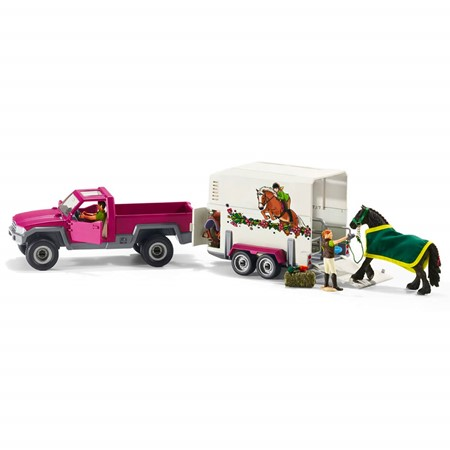Schleich 42346 - Pick-Up Met Paardentrailer