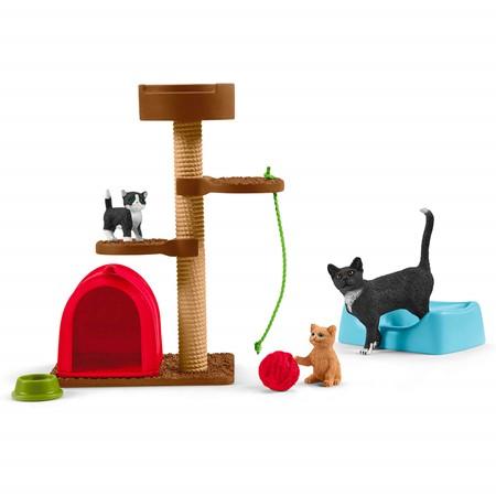 Schleich 42501 - Speeltijd Voor Schattige Katten