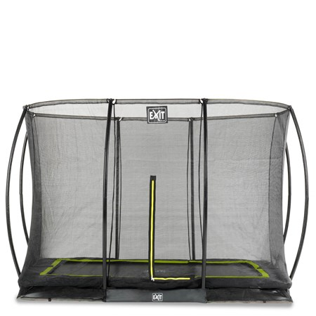 EXIT Silhouette inground trampoline 214x305cm met veiligheidsnet - zwart