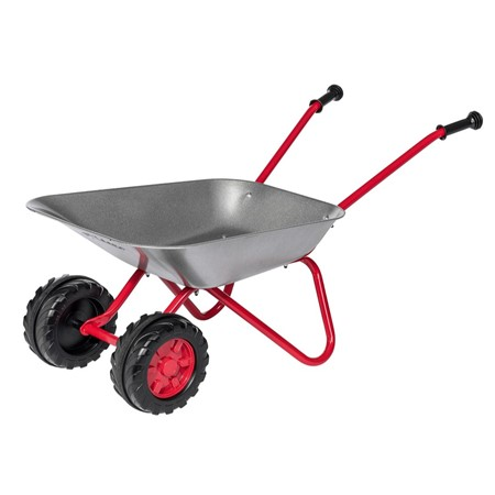 Rolly Toys Kinderkruiwagen Staal - zilver/rood