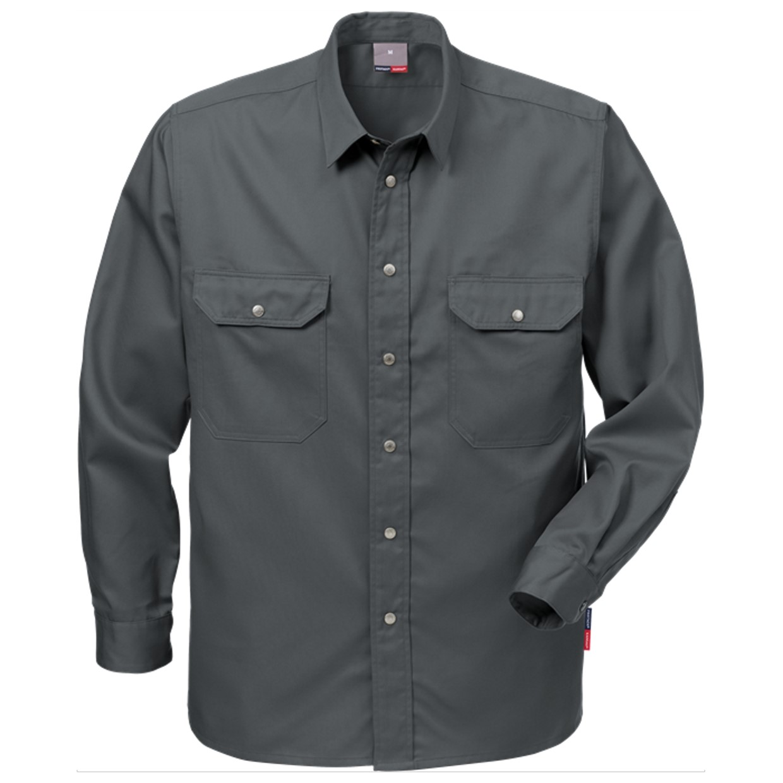 Donkergrijs Overhemd.Fristads Overhemd 720 B60 Donkergrijs Maat 2xl De Boer Drachten