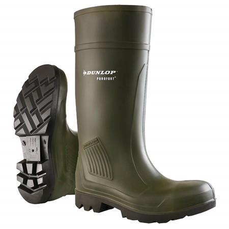 Dunlop Werklaars Purofort Professional Onbeveiligd Groen Maat 39