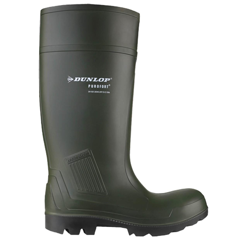 Dunlop Werklaars Purofort Professional Onbeveiligd Groen