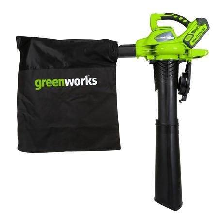 Greenworks Accu Bladblazer/-zuiger 40 Volt Met 2x 2.0 Ah Accu En Lader