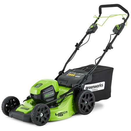 Greenworks Accu Grasmaaier 60 Volt 46 CM Zelfrijdend Zonder Accu En Lader