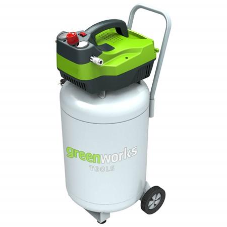 Greenworks Elektrische Compressor Verticaal