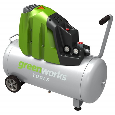 Greenworks Elektrische Compressor Horizontaal