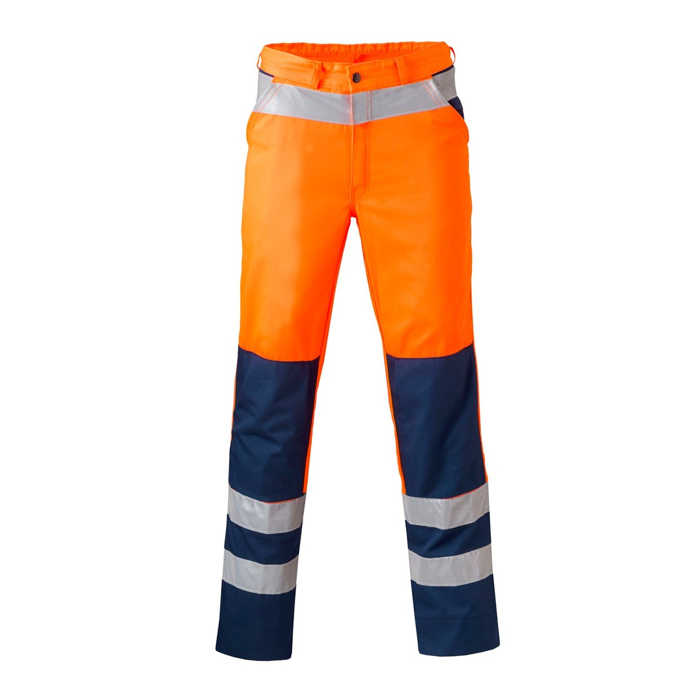 Havep high visibility werkbroek 8410 fluor oranje marine for 8410 3