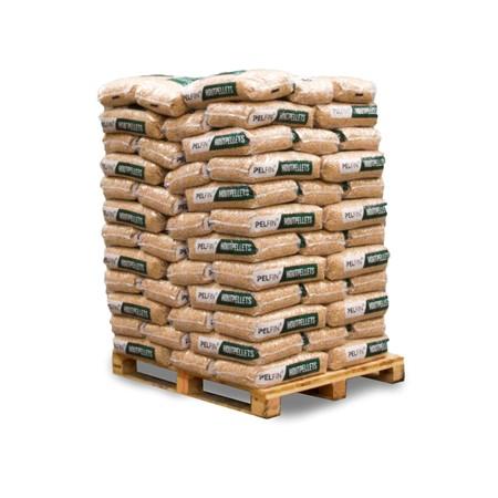 PELFIN Houtpellets Wit Naaldhout – 12,5 kg