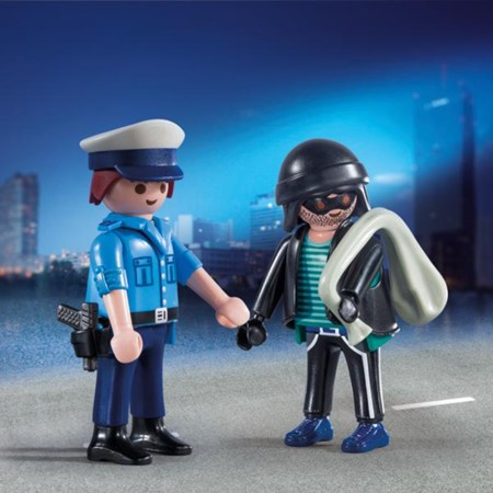 PLAYMOBIL City Action 9218 - DuoPack Politieagent en dief