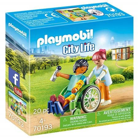 PLAYMOBIL City Life 70193 - Patient in Rolstoel