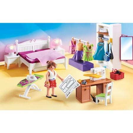 PLAYMOBIL Dollhouse 70208 - Slaapkamer met mode ontwerphoek