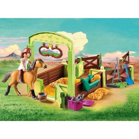PLAYMOBIL Spirit Riding Free 9478 - Lucky & Spirit met paardenbox