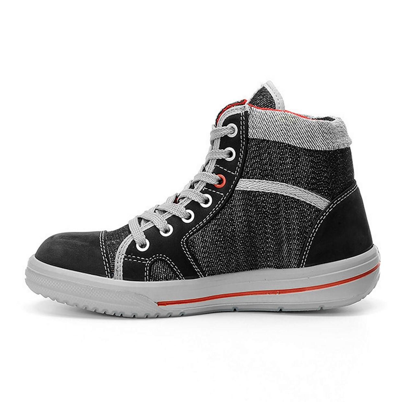 Werkschoenen Dames Maat 35.Elten Werkschoenen Sensation Lady S2 Sneaker Zwart Grijs Maat 35