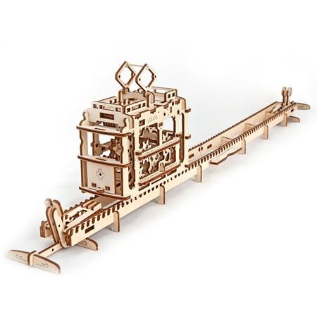 Ugears Modelbouw - Tram met rails 1:32
