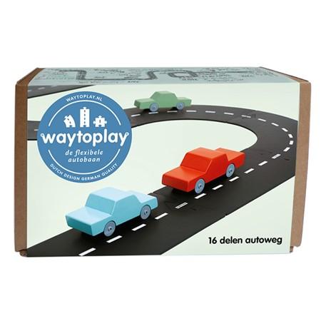 Waytoplay Flexibele Autobaan Autoweg 16 Delig